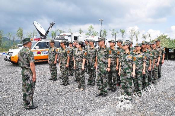 野外应急演练。重庆市民防办公室供图 华龙网发.jpg