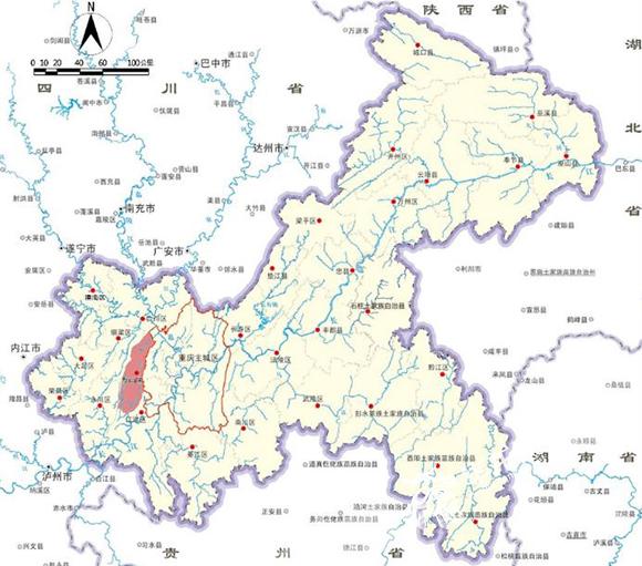 璧山区区位图。重庆市规划局供图 华龙网发.jpg