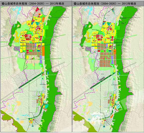 2012年总规局部修改用地前后对比图。重庆市规划局供图 华龙网发.jpg
