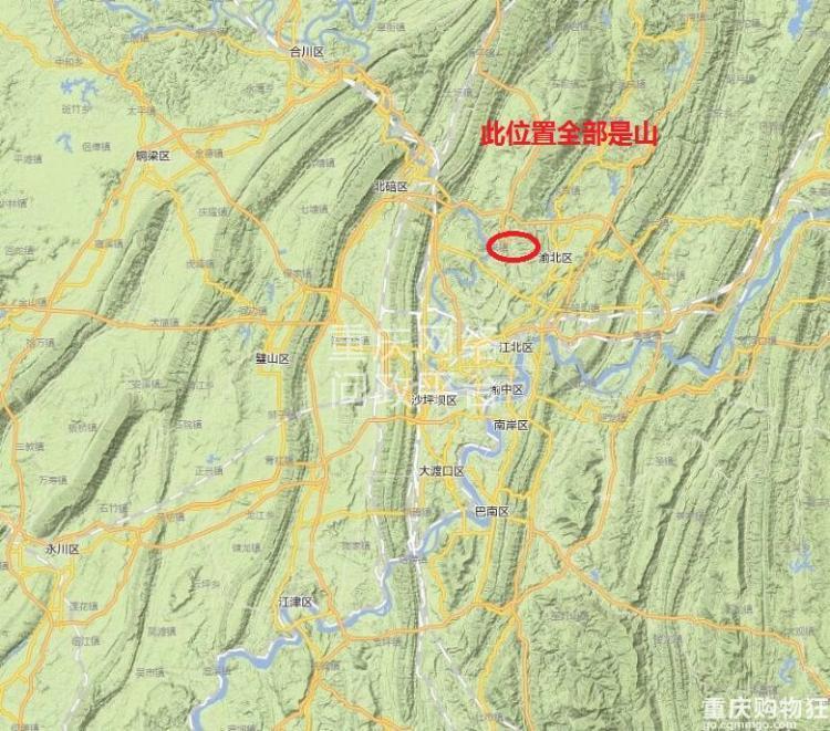 我们再看看重庆大学城以西,有着我们重庆大量的经济实力强大的区县图片